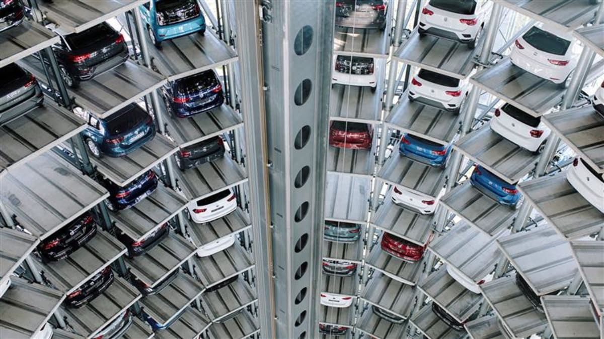The Volkswagen Autostadt in Wolfsburg, Germany