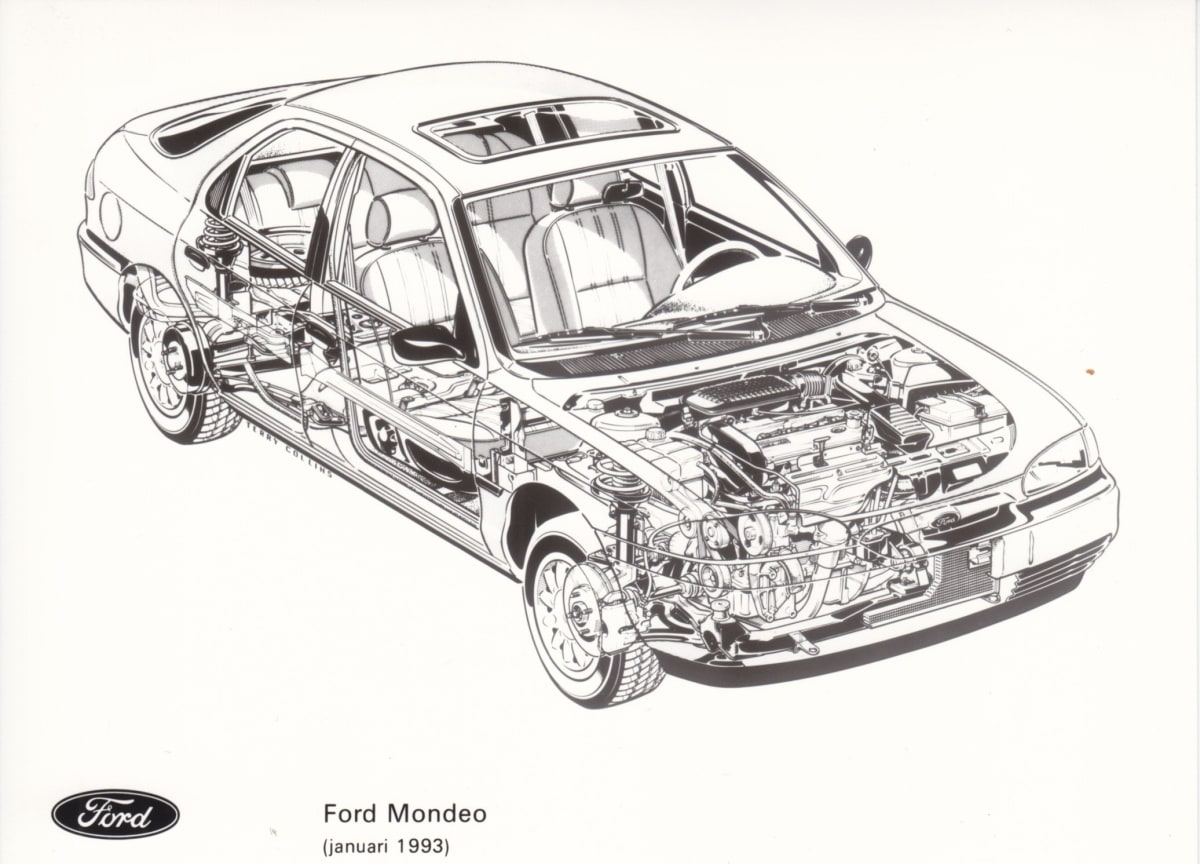 Ford Mondeo Mk 1 (illustration by Terry Collins for Ford Motor Company)