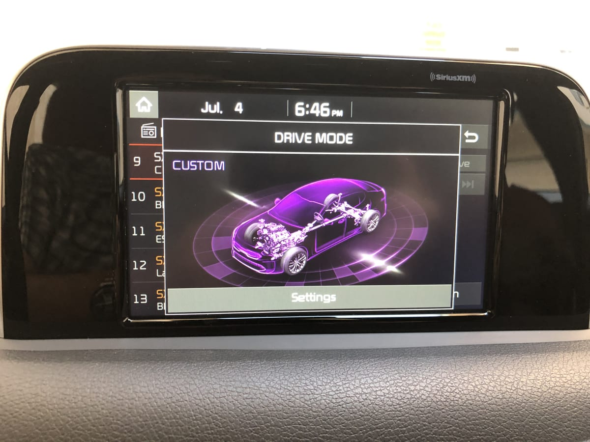 Here's the radio showing the drive modes.