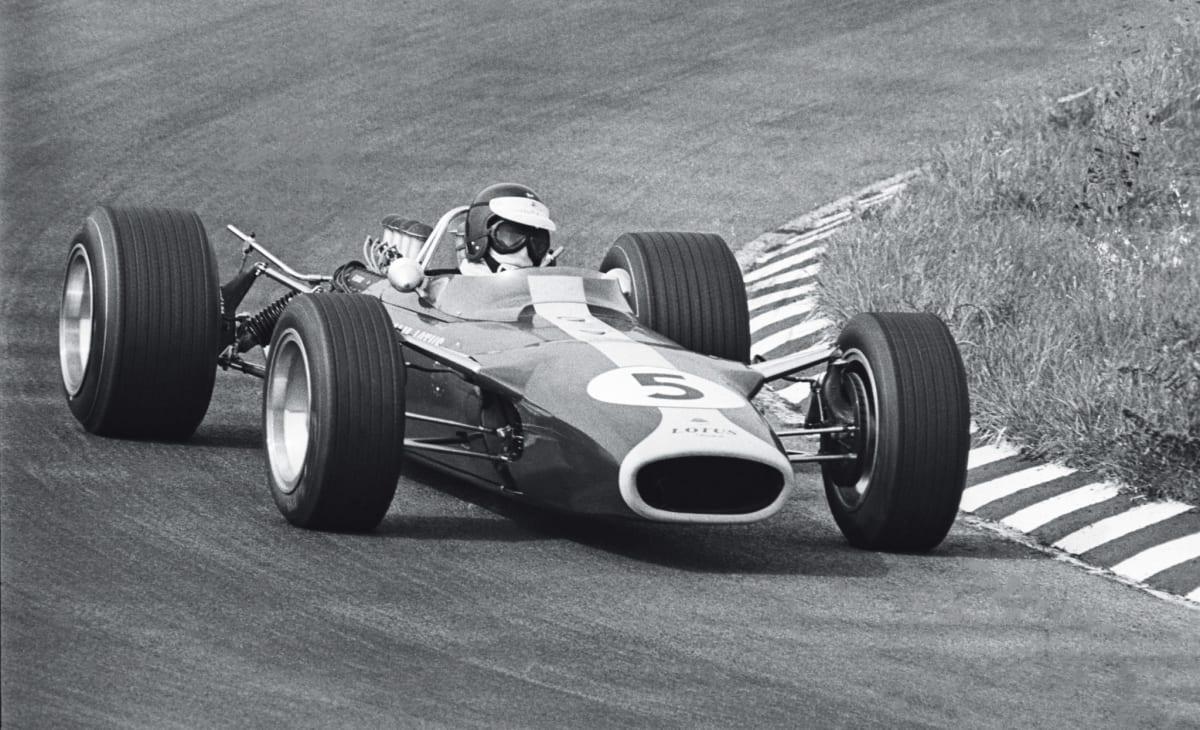Jim Clark aboard the game-changing Lotus 49 (© Pete Biro)