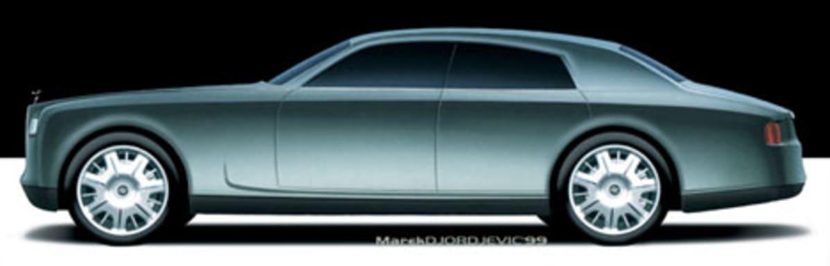 Side sketch of a Rolls Royce designed by Marek.