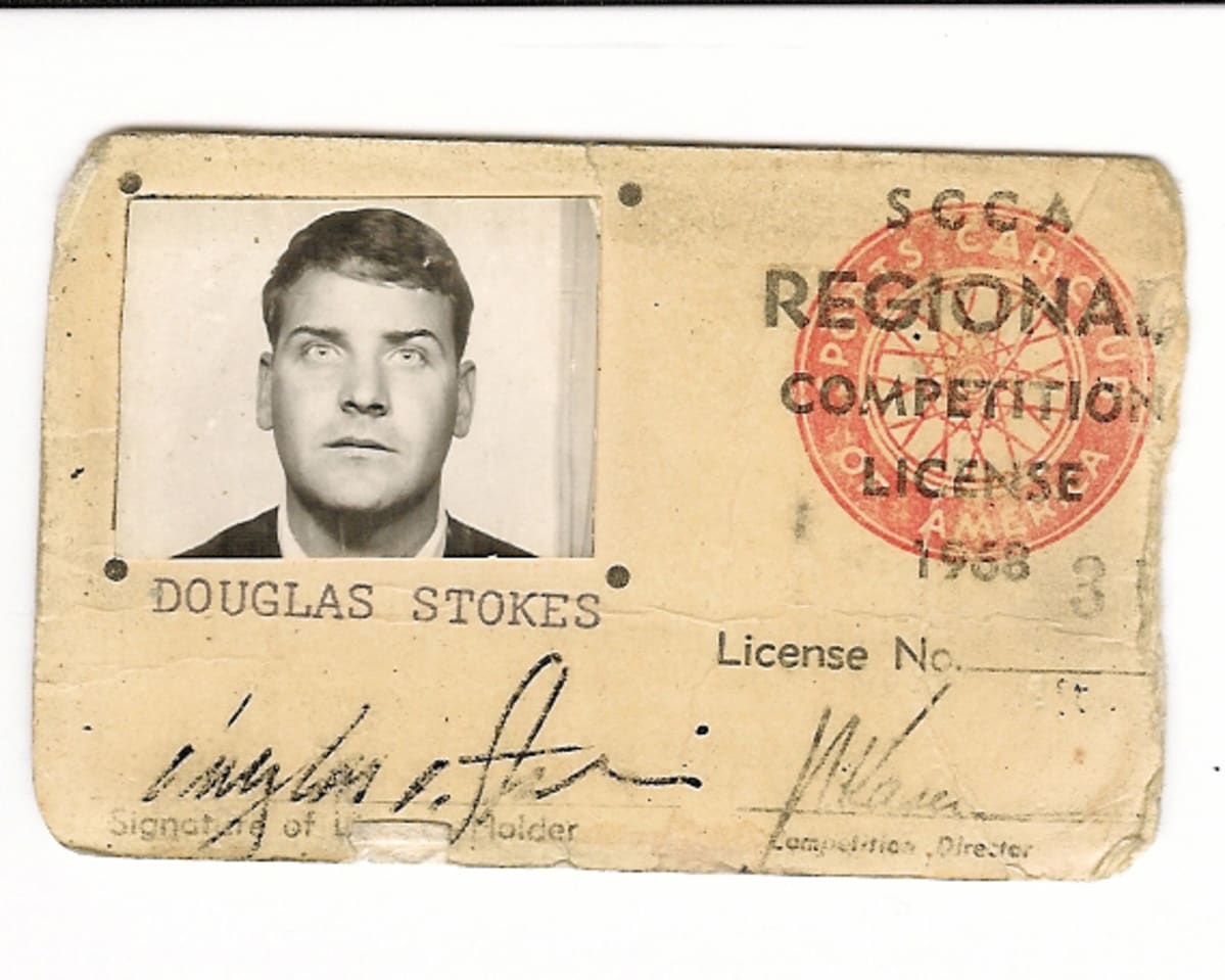 My (slightly) outdated SCCA license