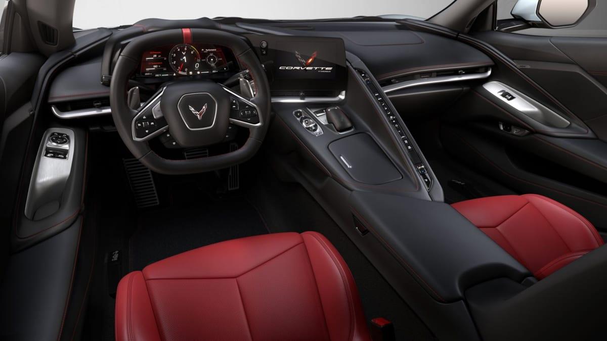 The interior of the 2020 Corvette Stingray looks sharp too!
