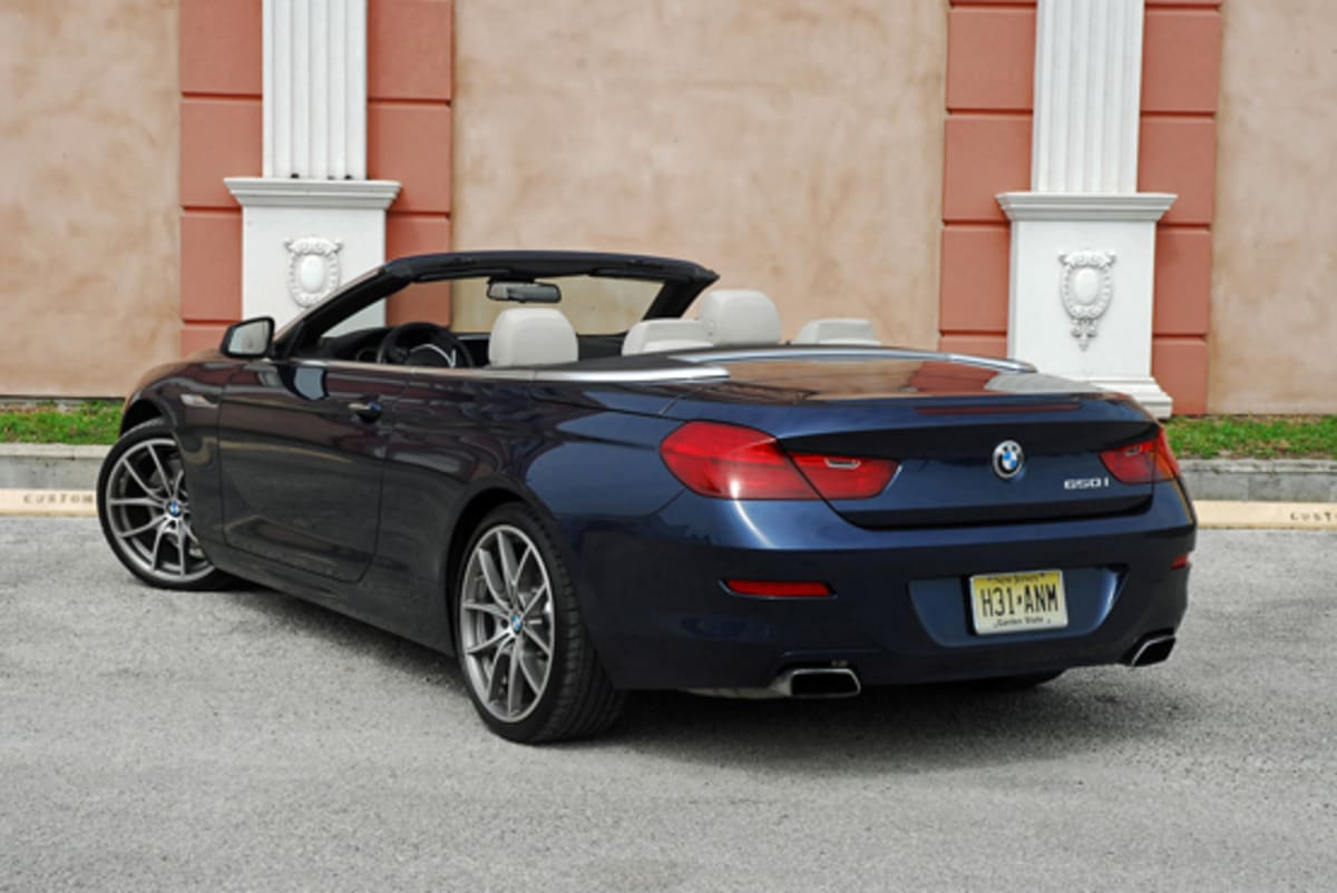1-2012 BMW 650ii Convertible Beauty Rear Done Small