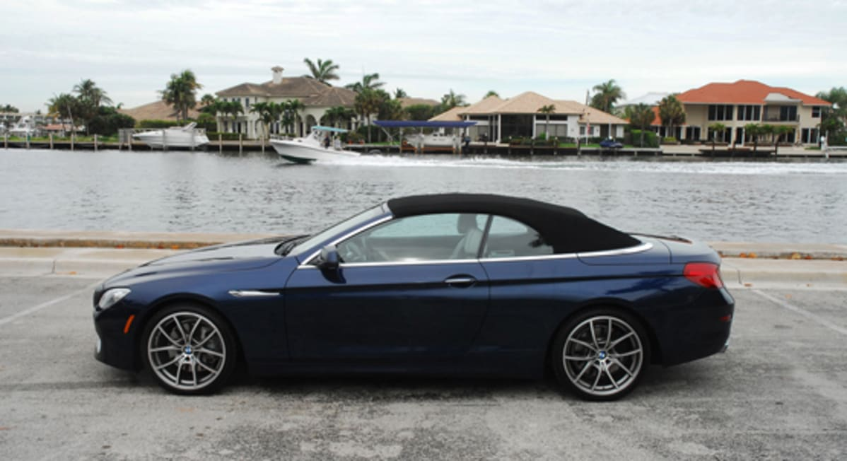 1-2012 BMW 650ii Convertible Side Beauty Top Up Done Small