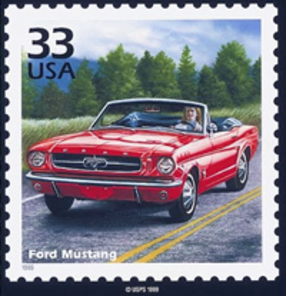 Ford Mustang Stamp