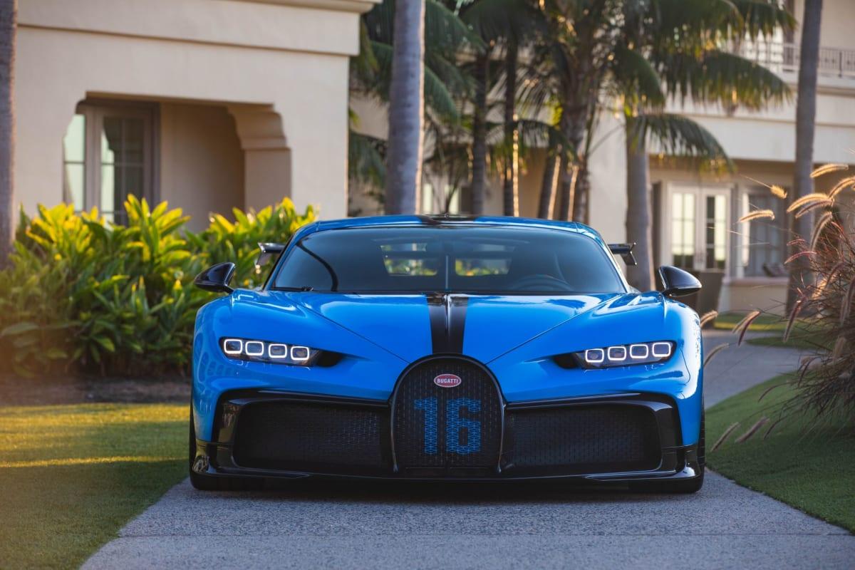 The Bugatti Chiron Pur Sport at Newport Beach.
