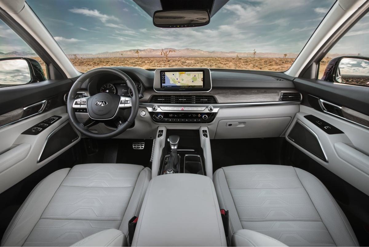 2020 Kia Telluride interior. Photo by Mazda