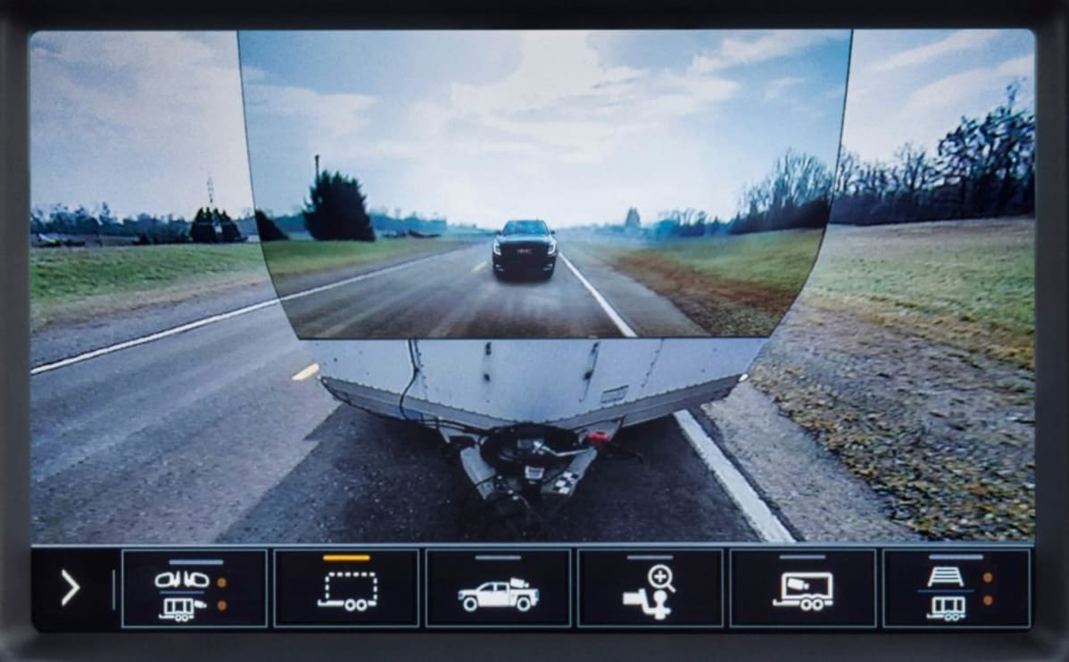 2020 GMC Sierra Available Transparent Trailer Rear Camera View