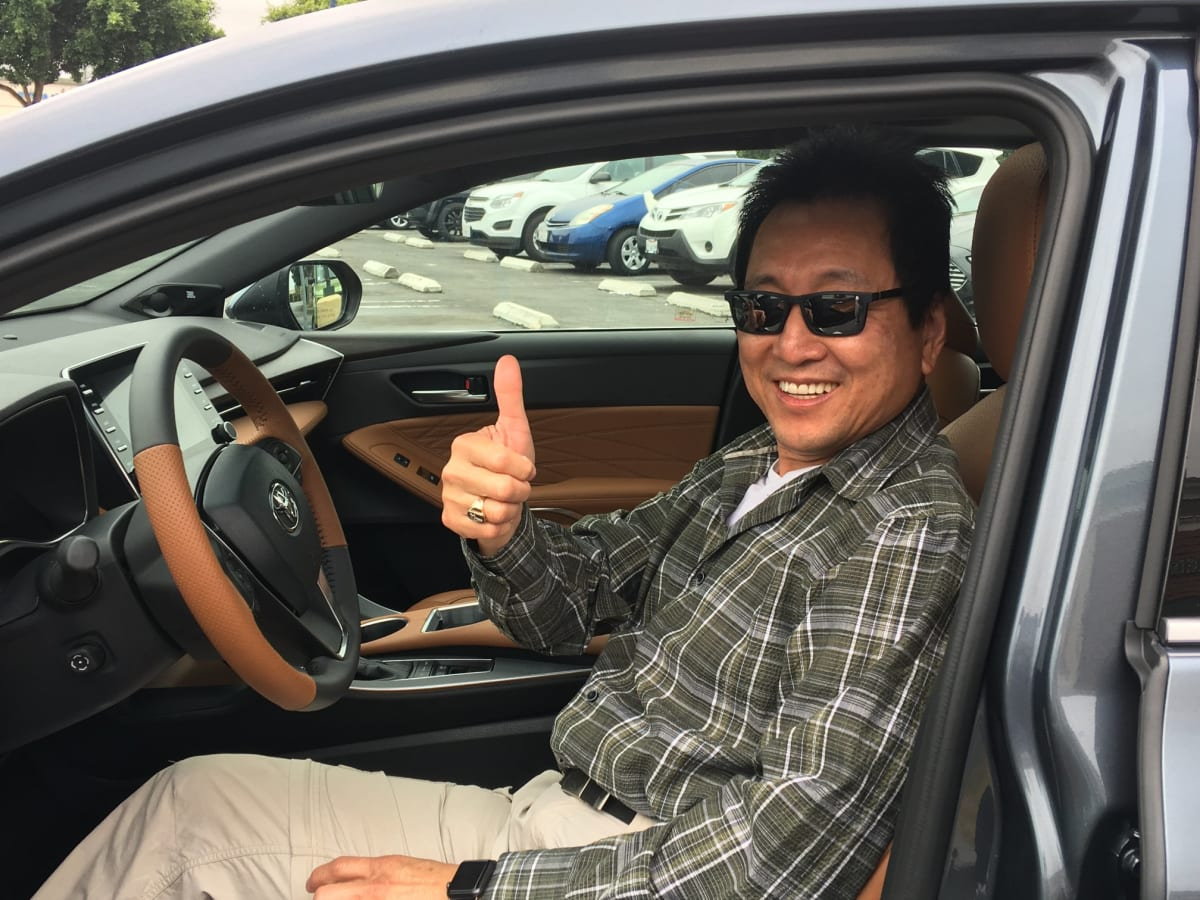 The Avalon was a crowd pleaser at Carcadia. Arcadia Mayor Sho Tay gives it the thumbs up.