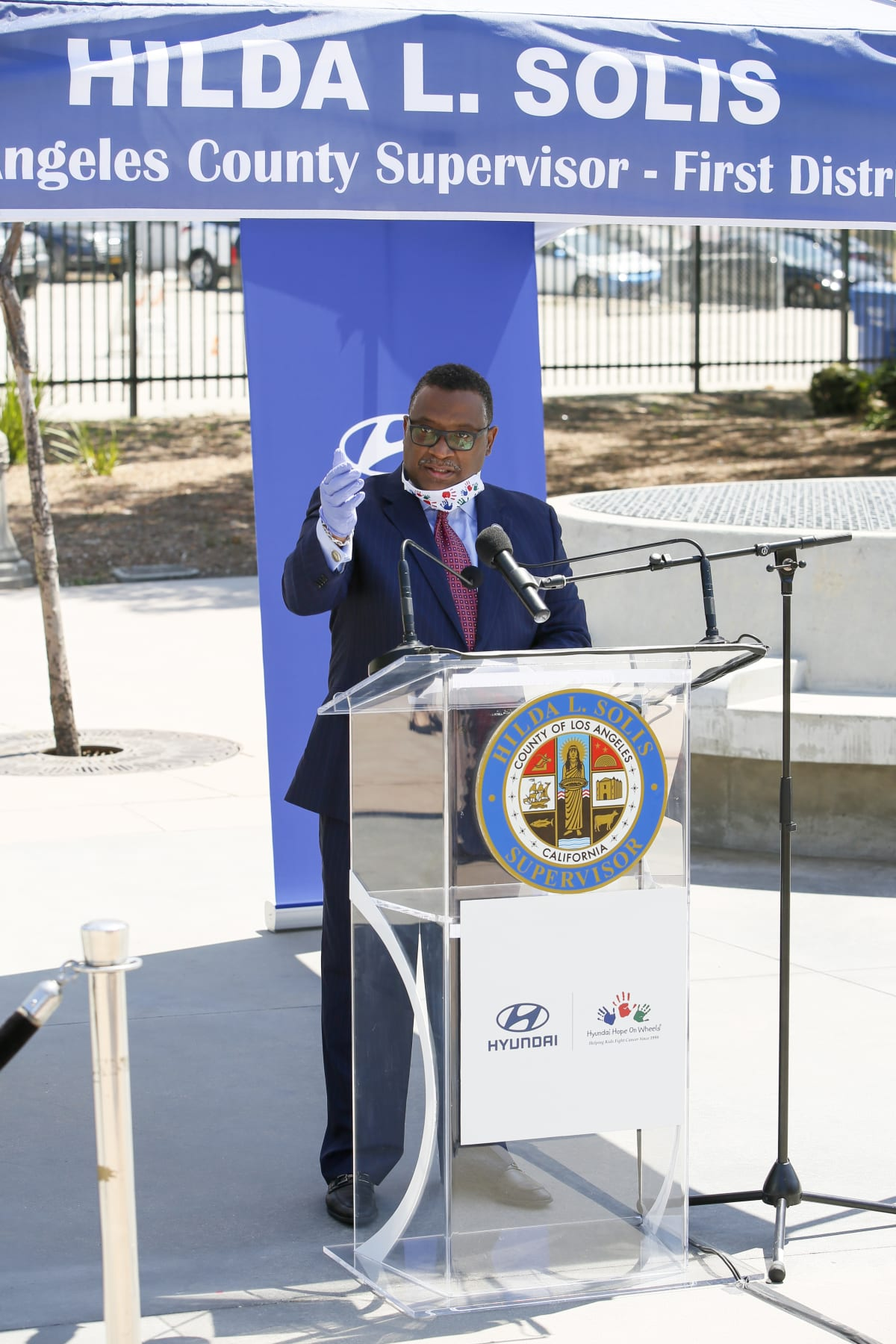 Hyundai Hope On Wheels donates $100,000 to Boyle Heights COVID-19 testing center.