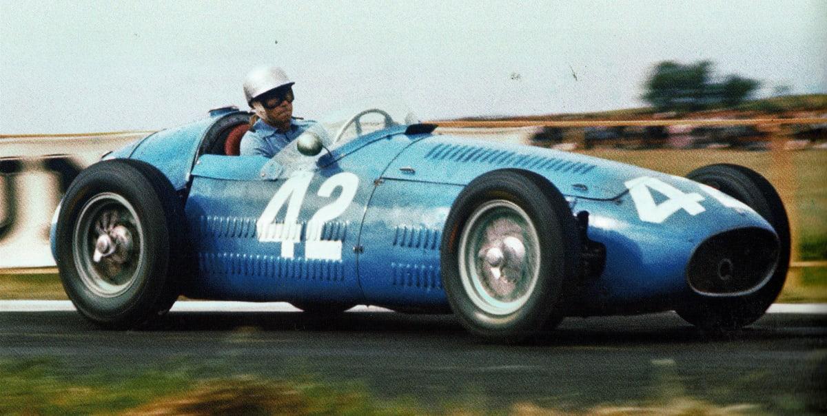 blue race car formula 1