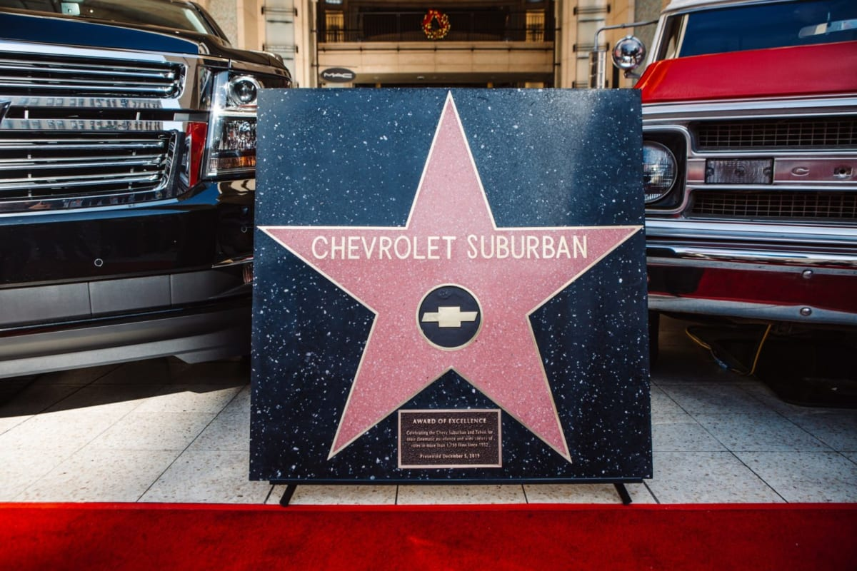 Chevrolet Suburban Receives Hollywood Star