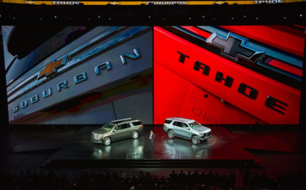 2021 Chevrolet Suburban and Tahoe