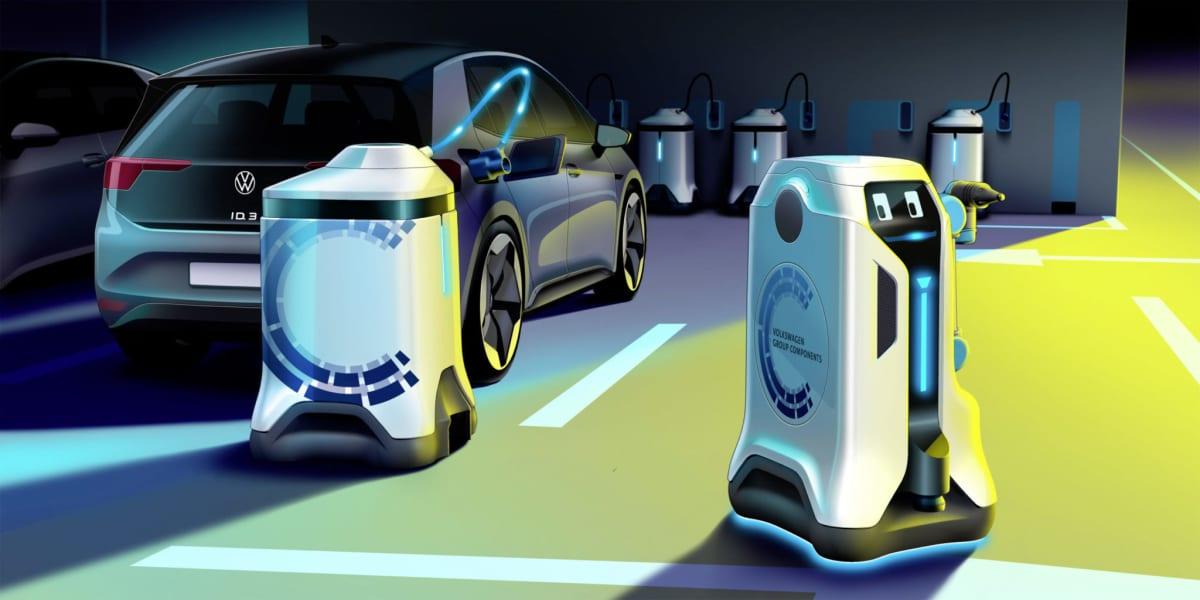 Volkswagen Group Components' mobile charging robots