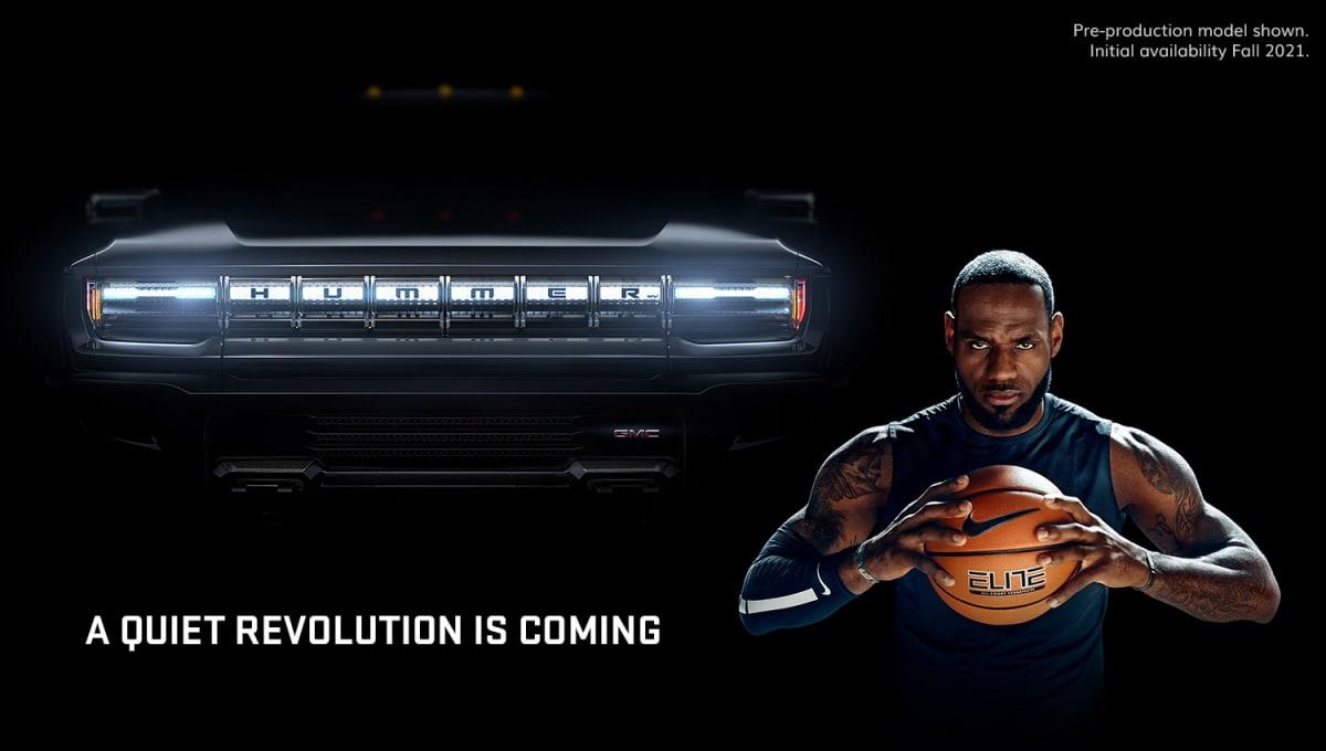 GMC Hummer EV with LeBron James