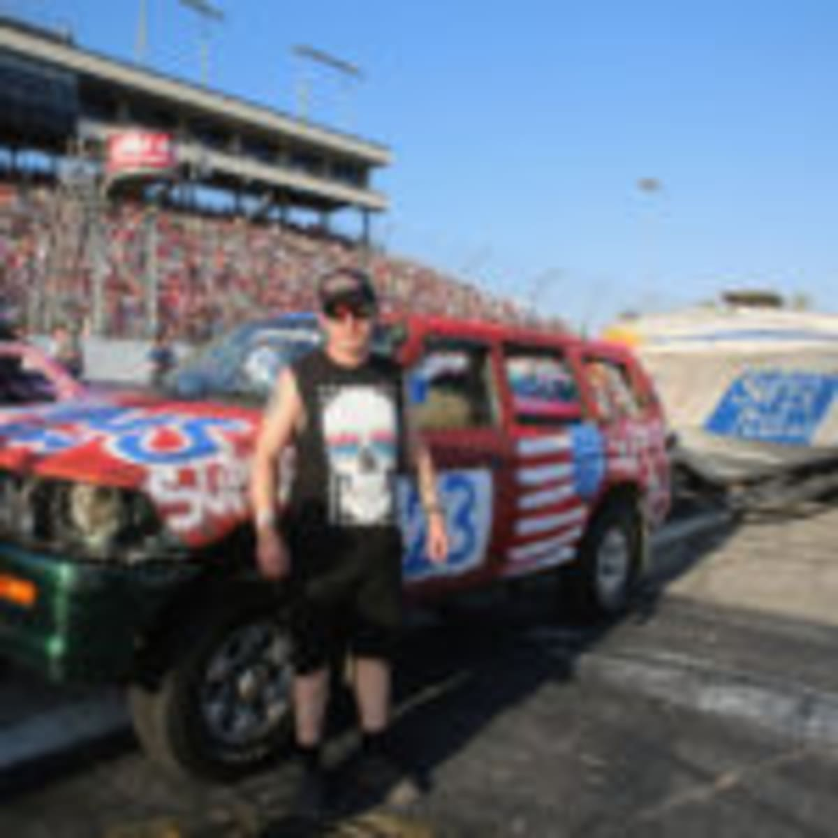 Tony Songer, driver of the Jans Towing/Super Plus Auto #23