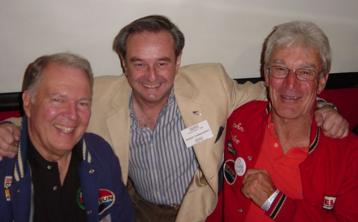 Hector, the author, with Peter and John at a BRE Reunion