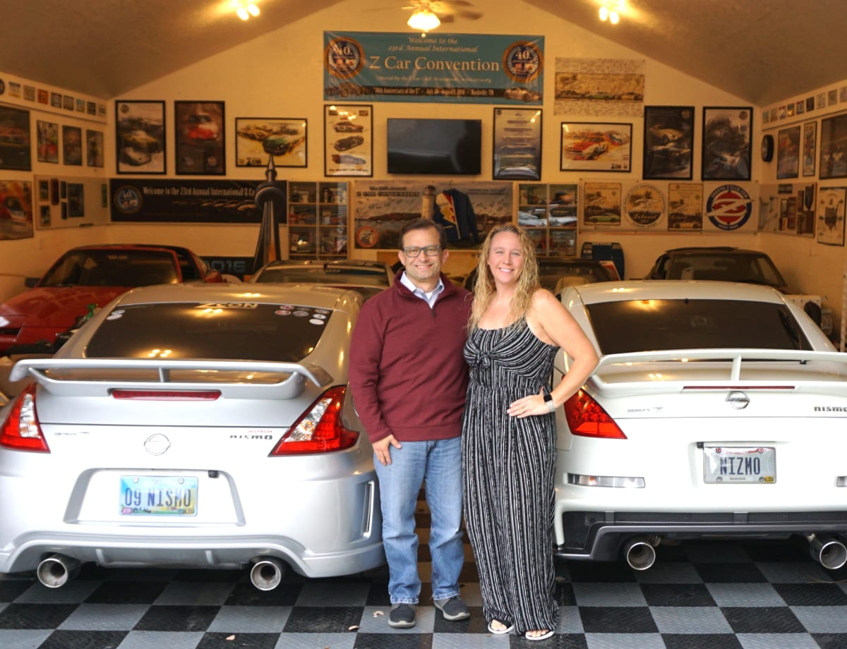 The author and his supportive wife love the Z Car community