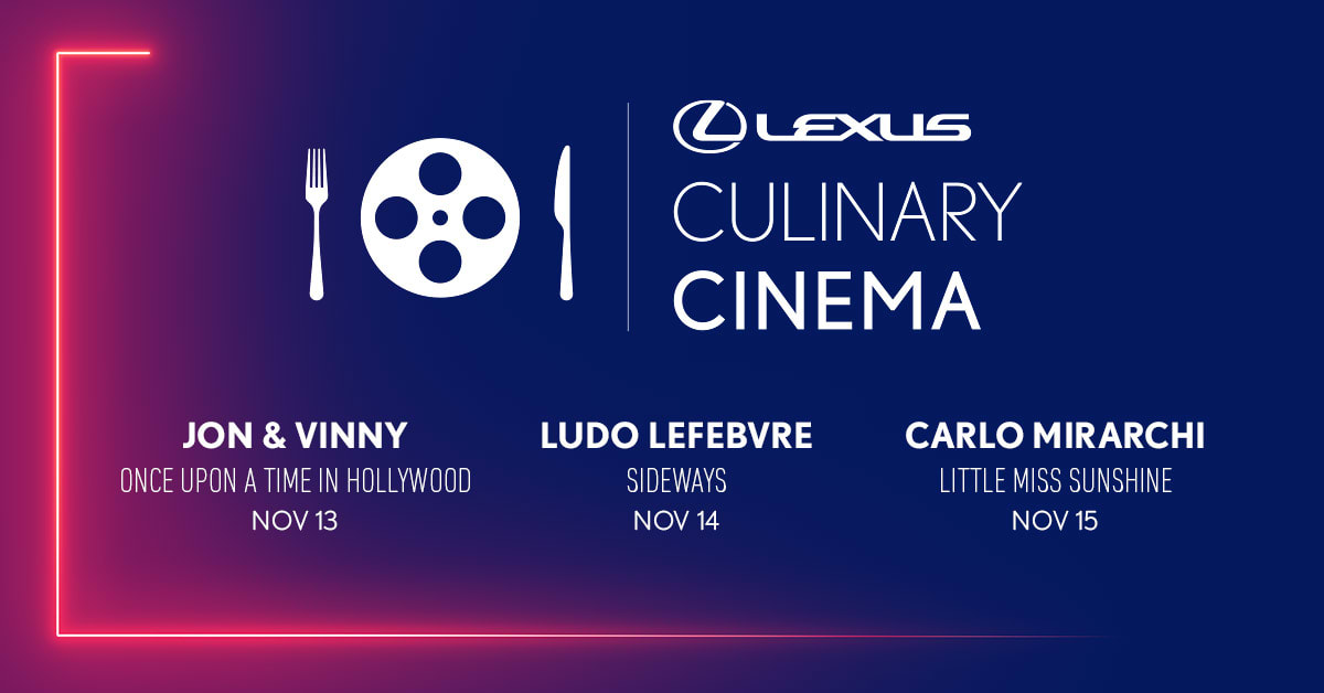 The Lexus Culinary Cinema features both legendary chefs and movies.