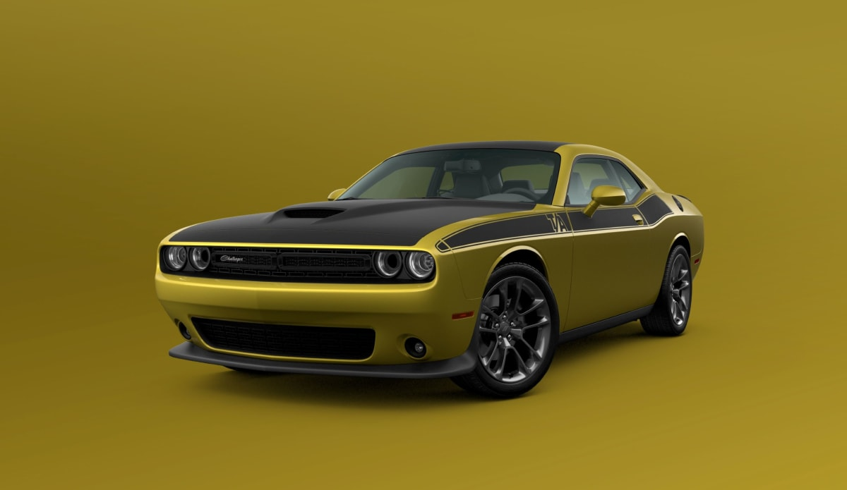 2021 Dodge Challenger T/A shown in Gold Rush exterior paint color.