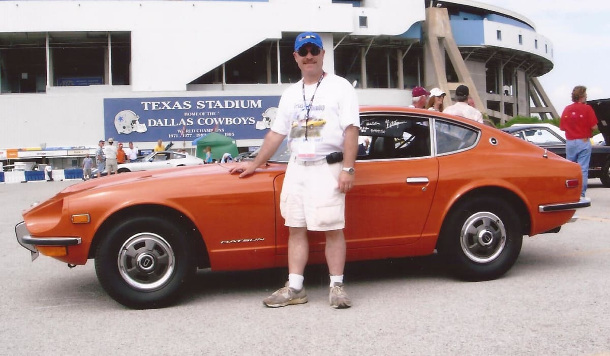 The author with his 1971 Datsun 240Z at a Z Convention in Texas.