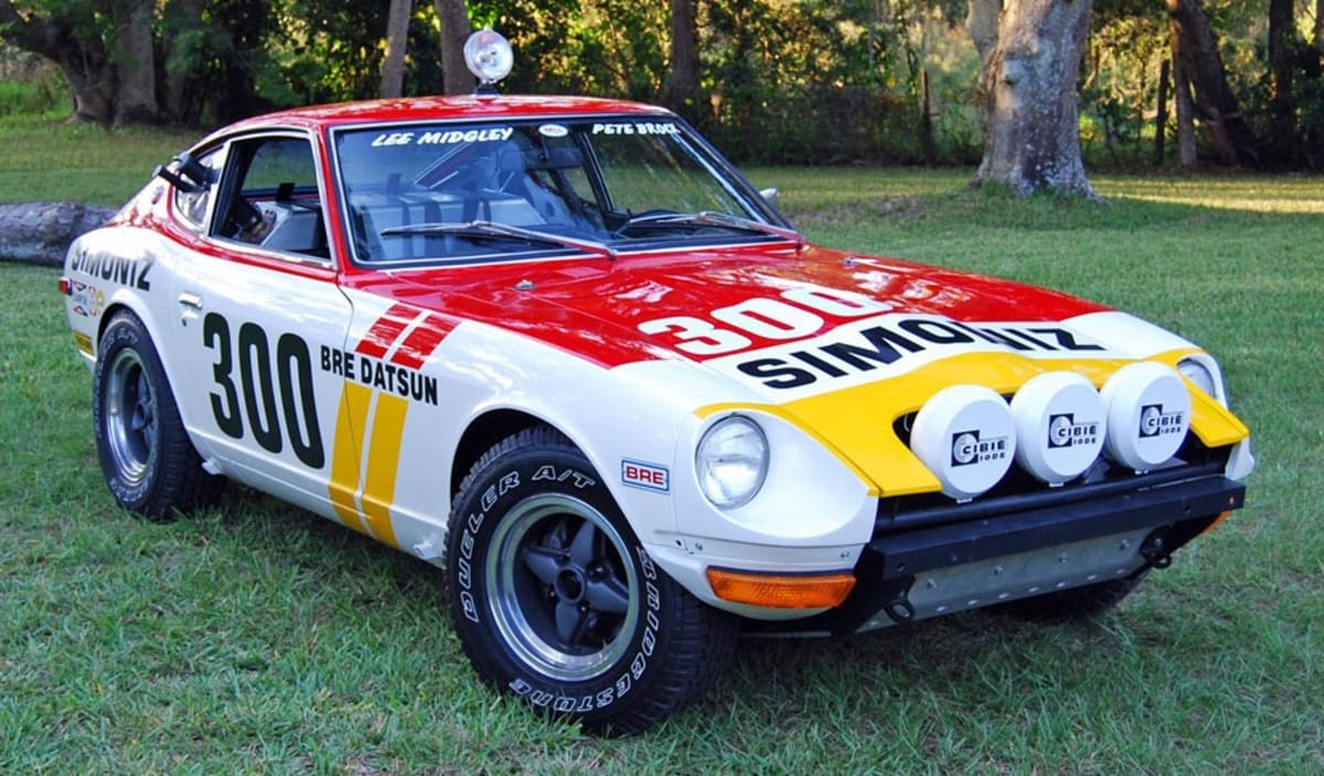 The Datsun 240Z Baja in BRE livery. It was restored by its current owner, Carl Beck, in 2007.