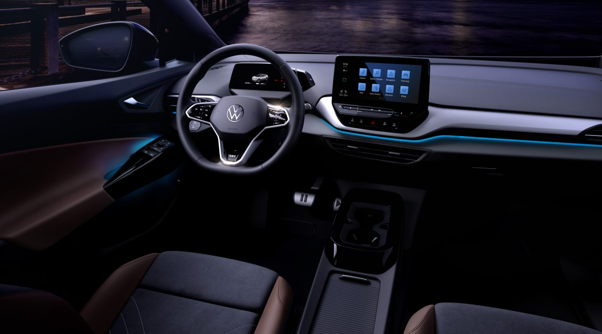 Interior of the Volkswagen ID.4. The car will fully debut on September 23rd.
