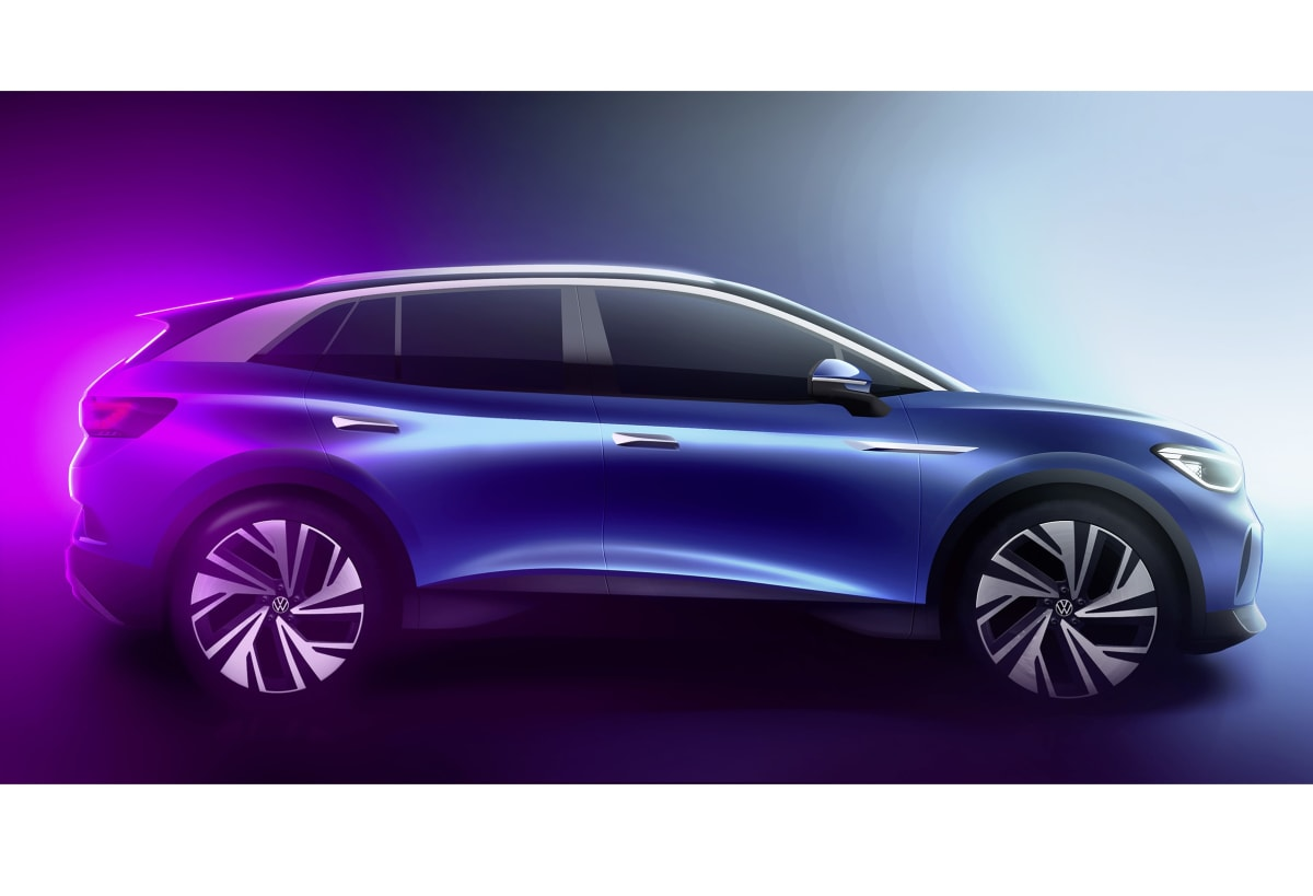 Volkswagen ID.4 concept. The production model will be revealed on September 23rd.