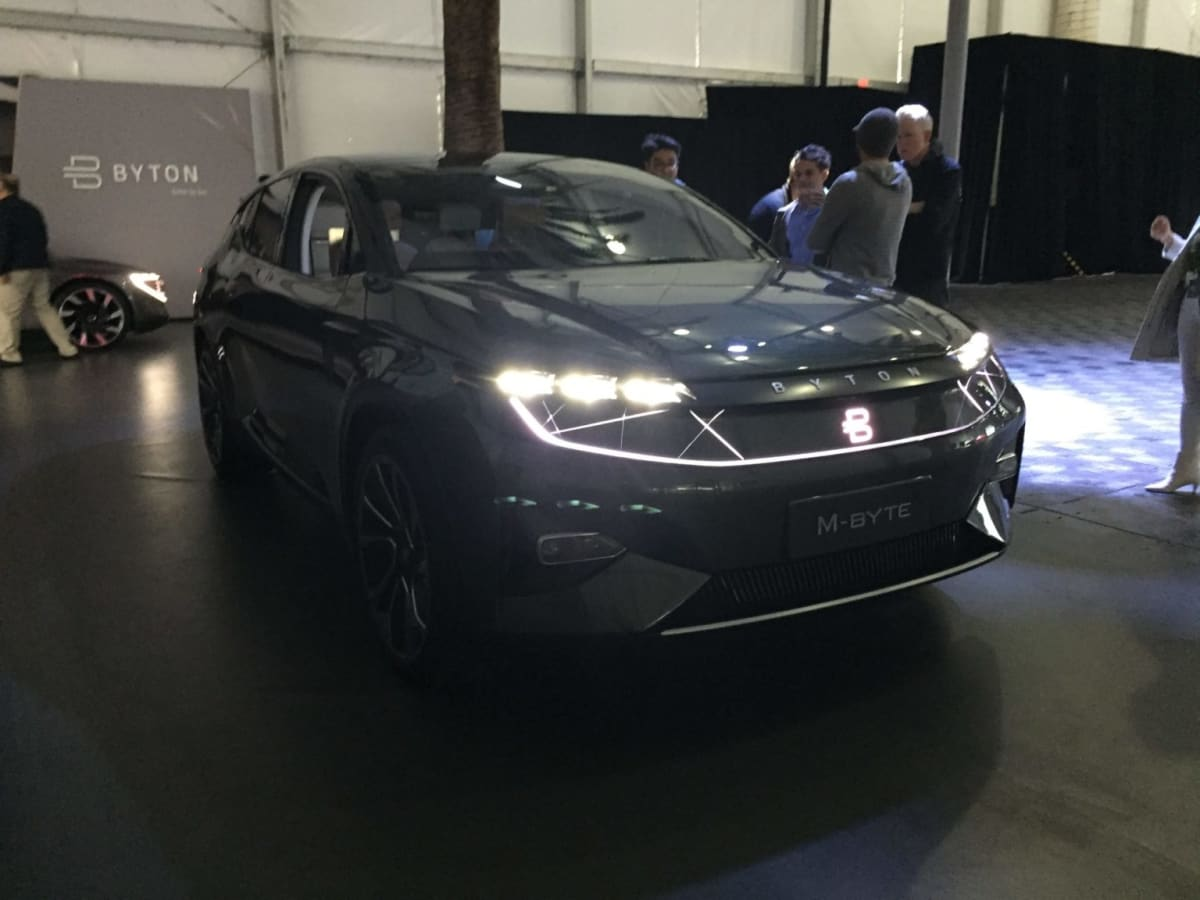 The Byton M-Byte SUV concept at the LA Auto Show