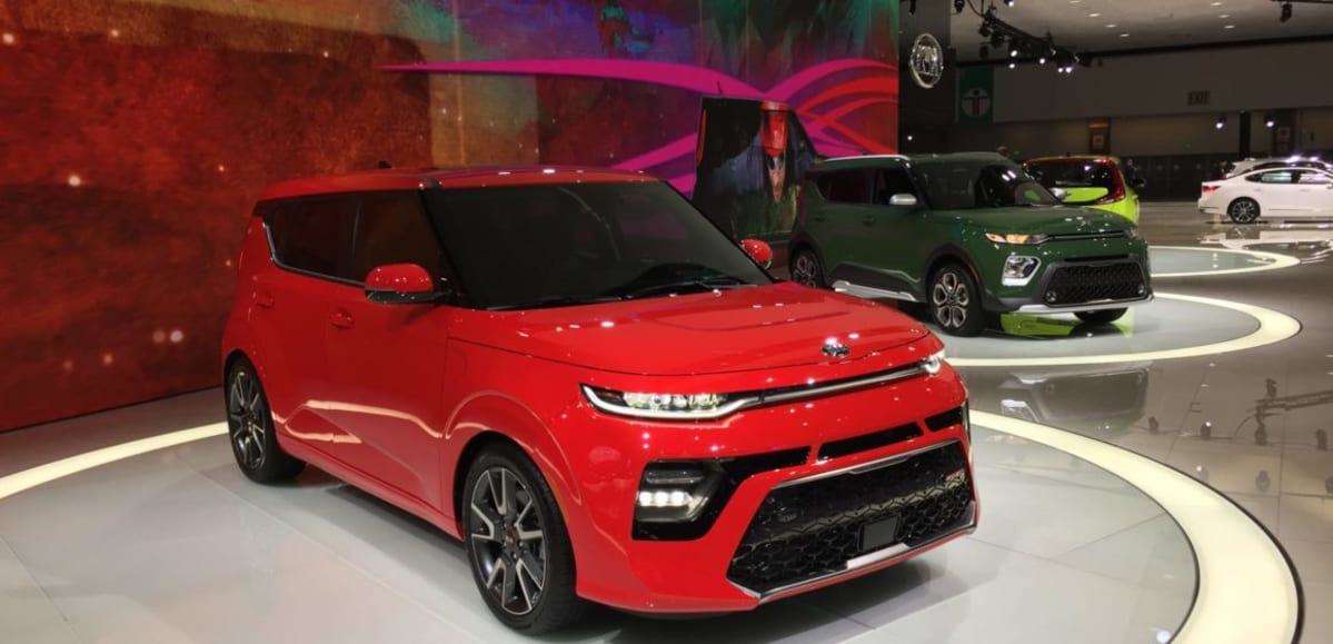The third-generation Kia Soul in GT turbo, X-line and EV flavors (Nakano)