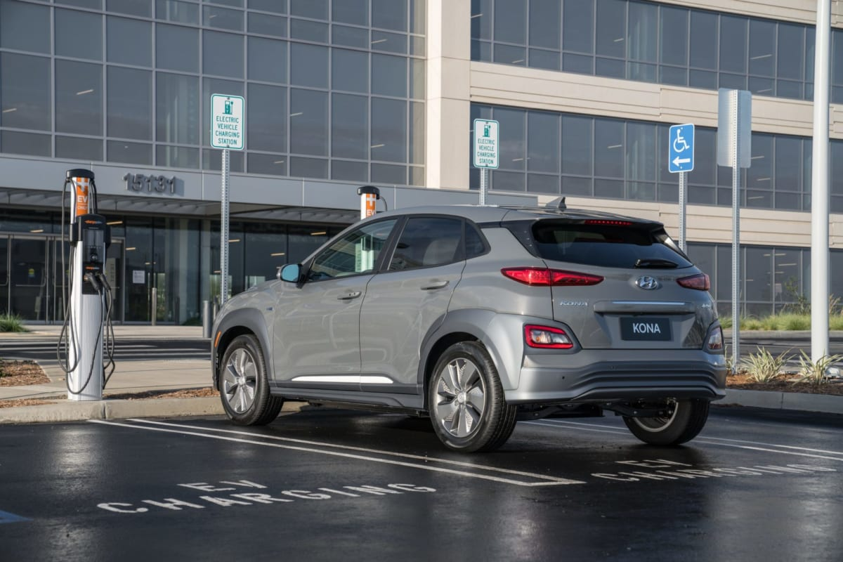 Every Kona EV is fitted with DC fast-charging capability.