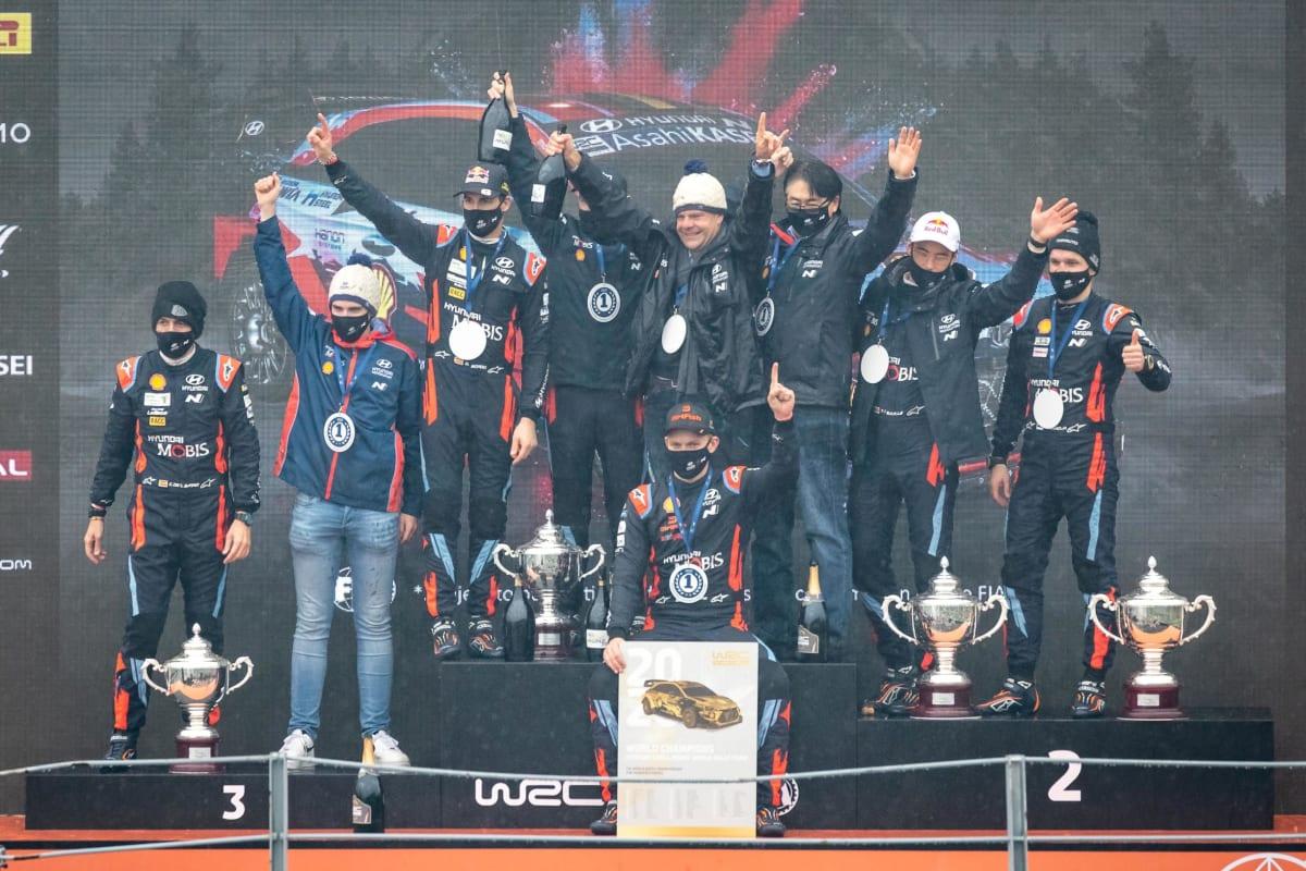 Hyundai Motorsport Celebrates Second Consecutive WRC Manufacturers' Title
