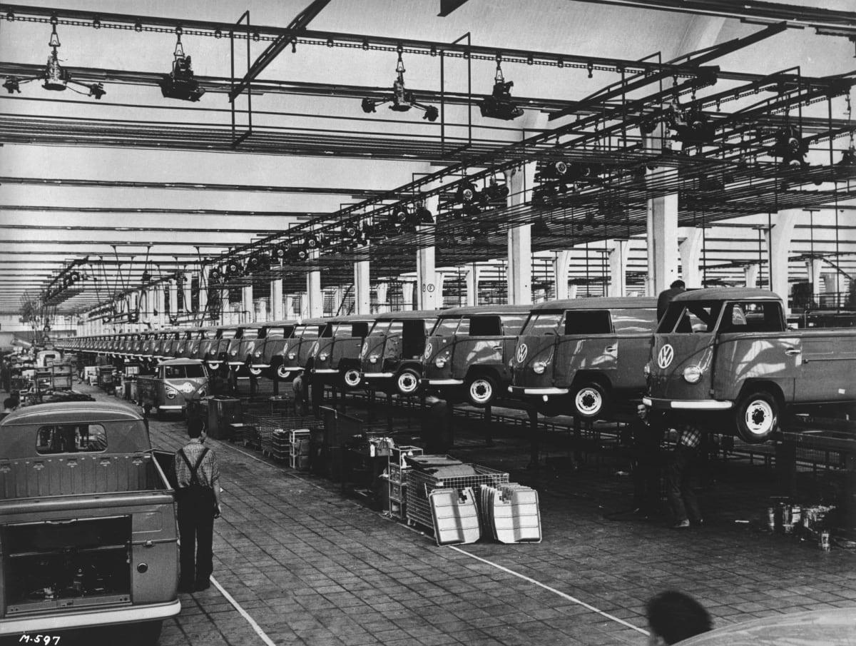 Beetle production at Wolfsburg.