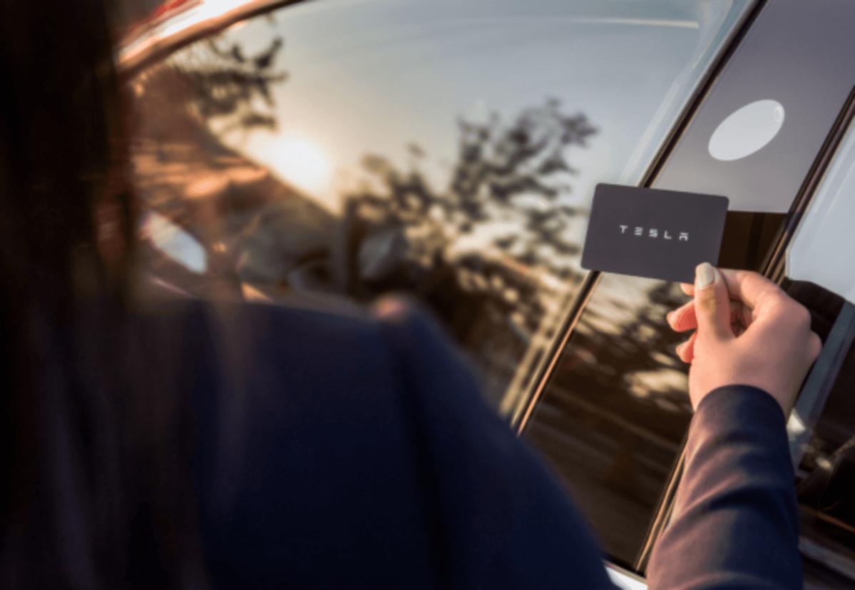 The Tesla Model 3's door-opening back-up: The keycard (Timothy Artman)