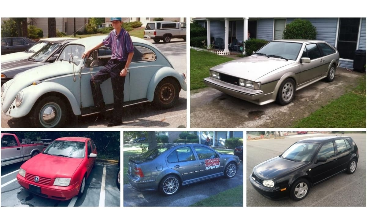 A few Volkswagens that have been owned by Taylor Bryant, VW afficionado.