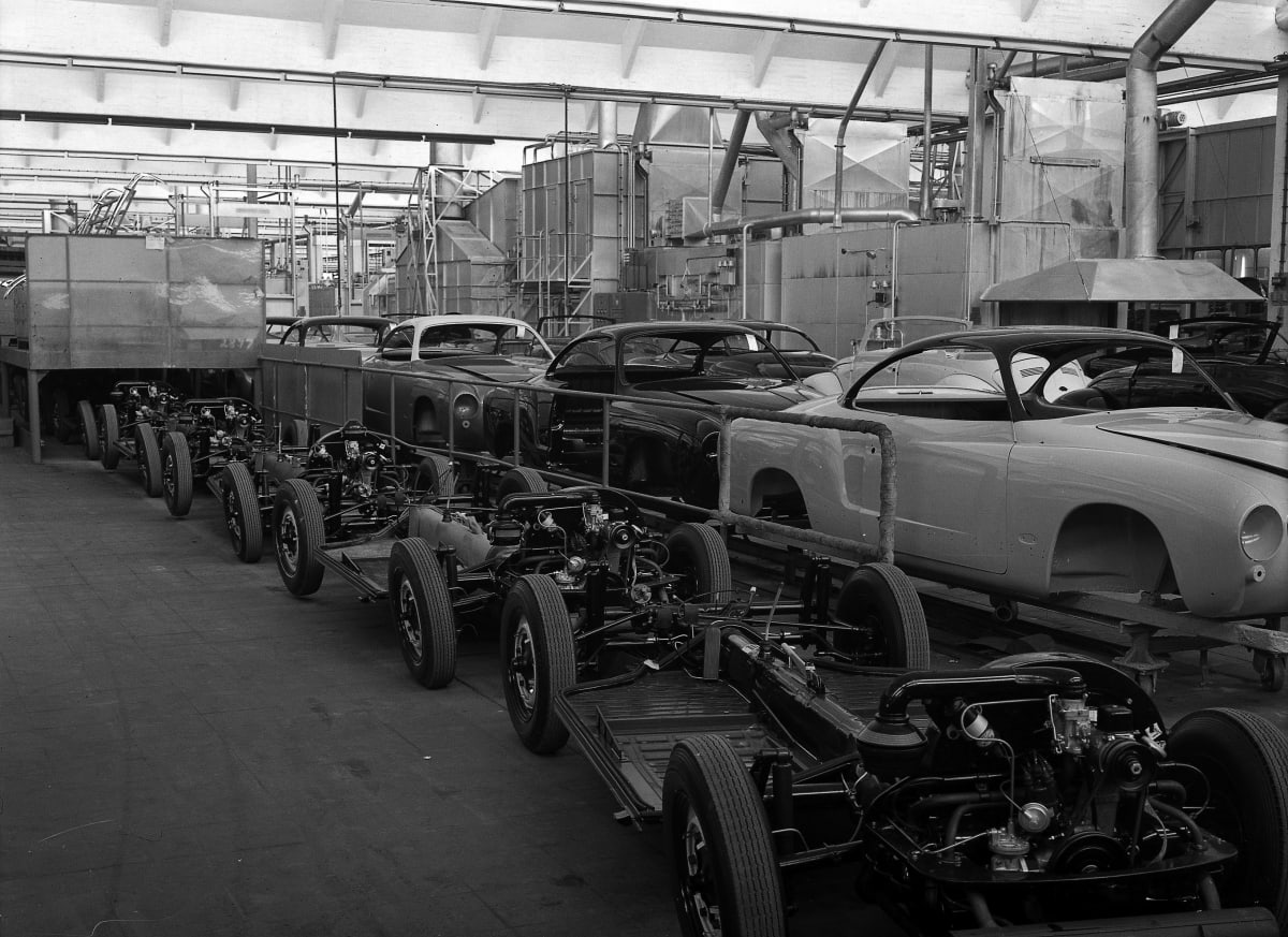 Karmann Ghia manufacturing began in 1955.