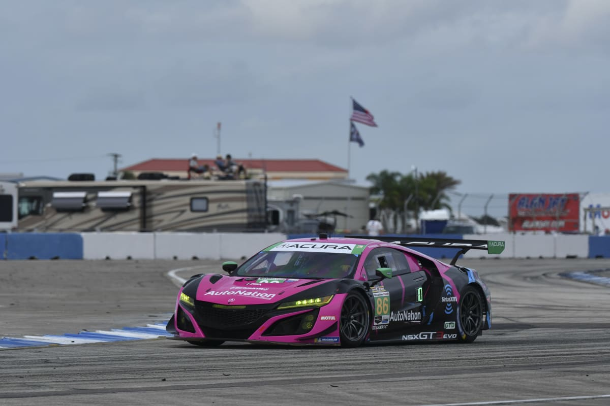 The #86 MSR Acura of defending series champion Mario Farnbacher, Matt McMurry and Shinya Michimi used a third-place class finish to secure the drivers' and team's titles for full-season drivers Farnbacher and McMurry.