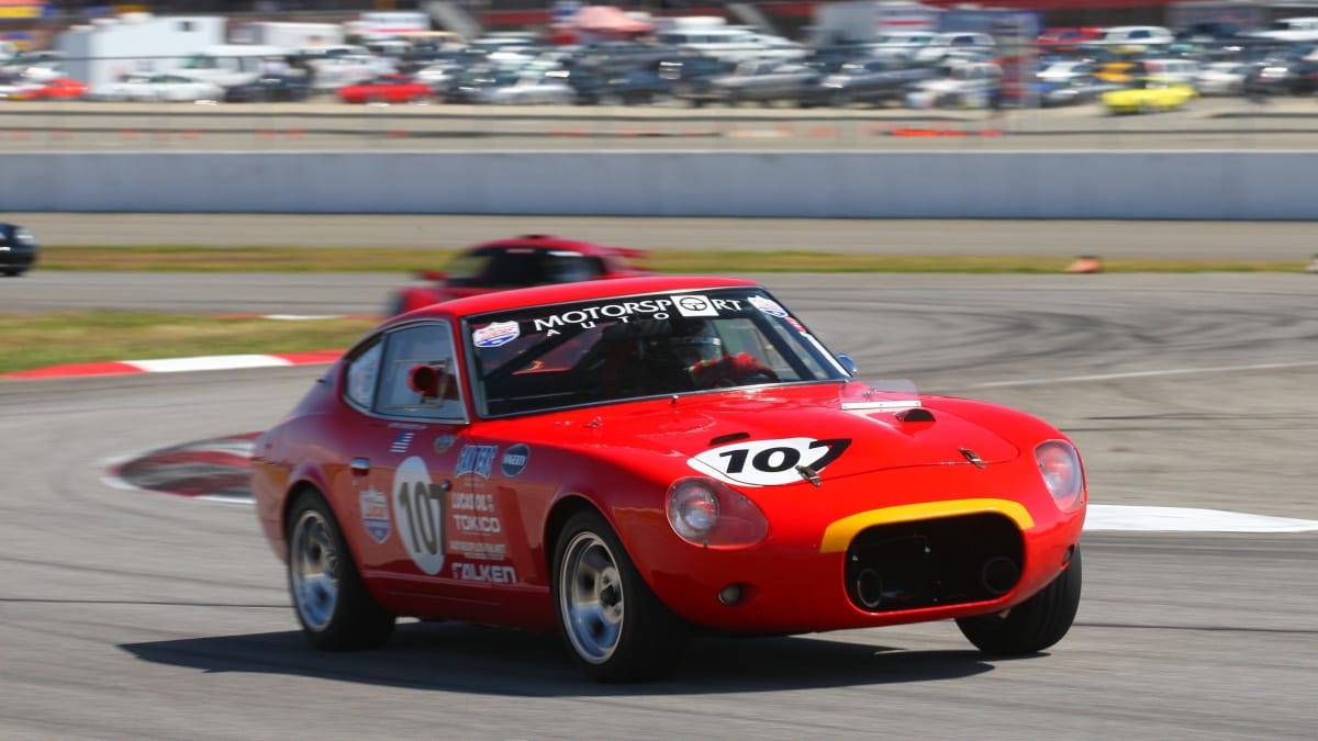 Hector racing his Datsun, affectionately dubbed 'Ferratsun'