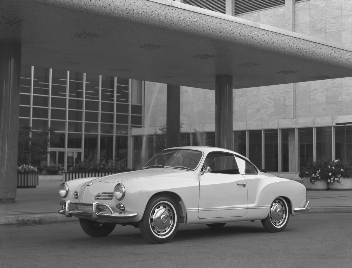 The VW Karmann Ghia was popular for its charm and distinctive styling.