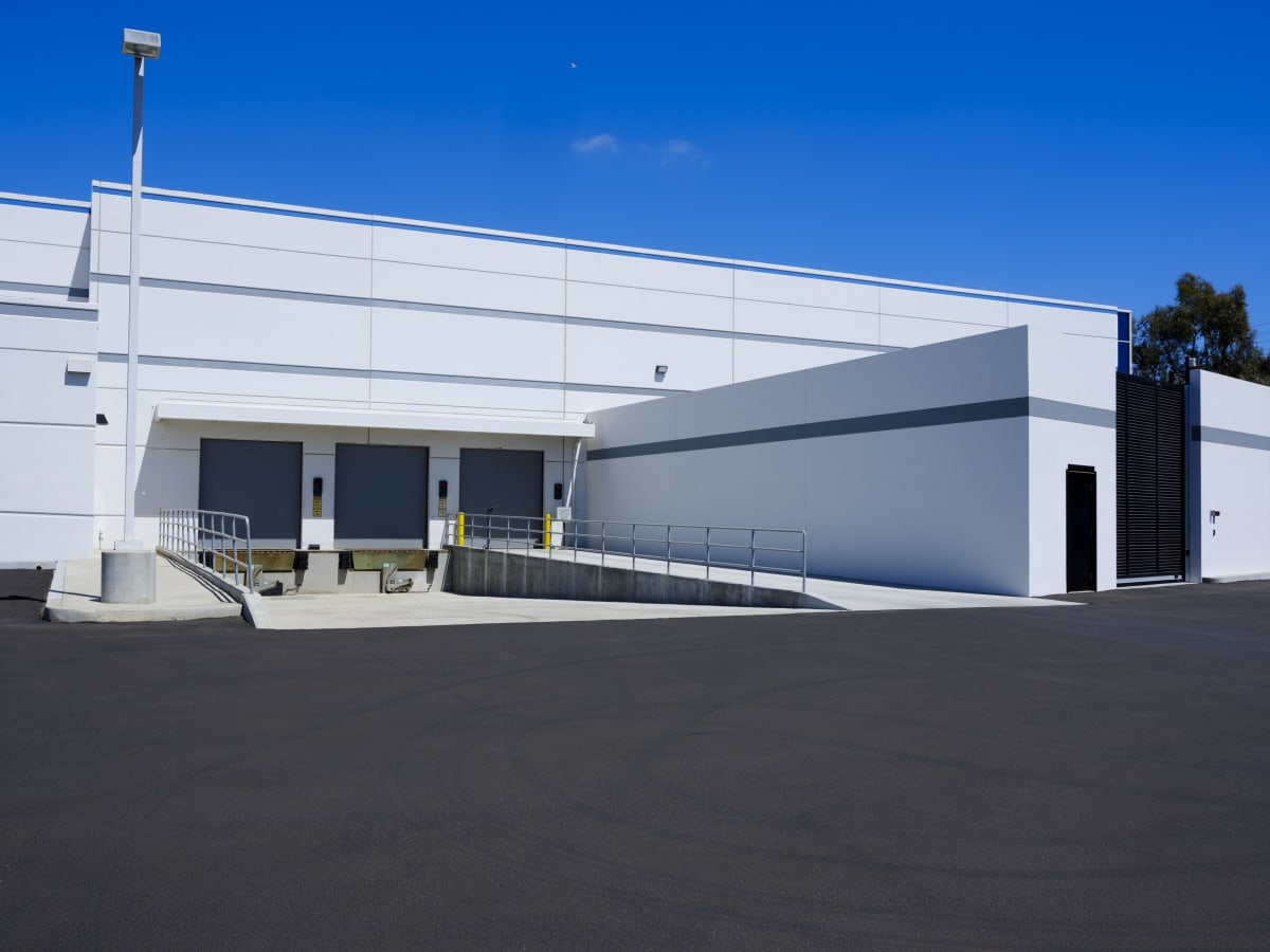 Volkswagen Group's new Oxnard Engineering Campus shipping and receiving docks