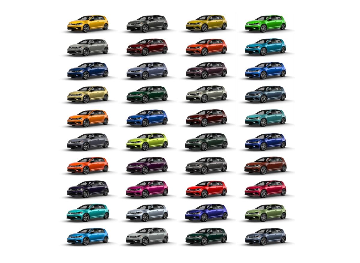 The full color option list for the Volkswagen Spektrum Program
