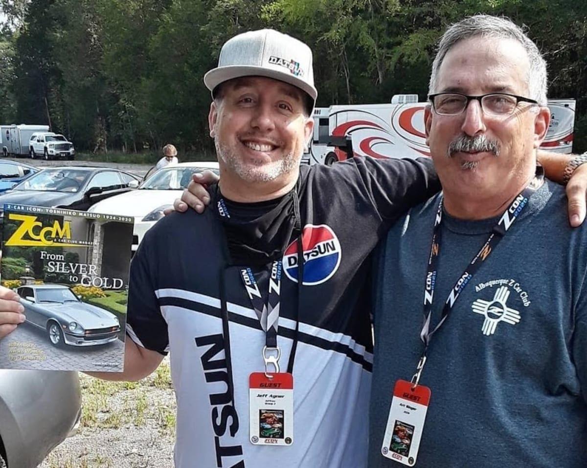 LACar.com Field Correspondent in Nashville Jeff Agner (left) with ZCCM Magazine Publisher Art Singer.