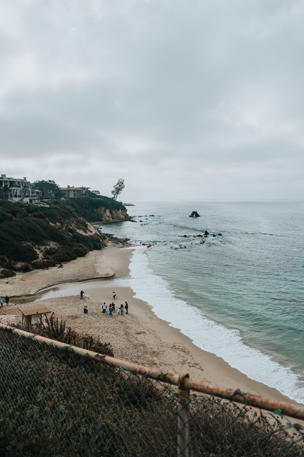 Little Corona Beach, a family-friendly and really kid-friendly beach in Southern California, in Newport Beach.