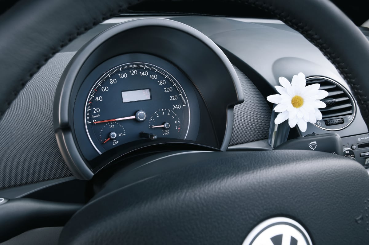 Even the new Beetles look good with a flower!