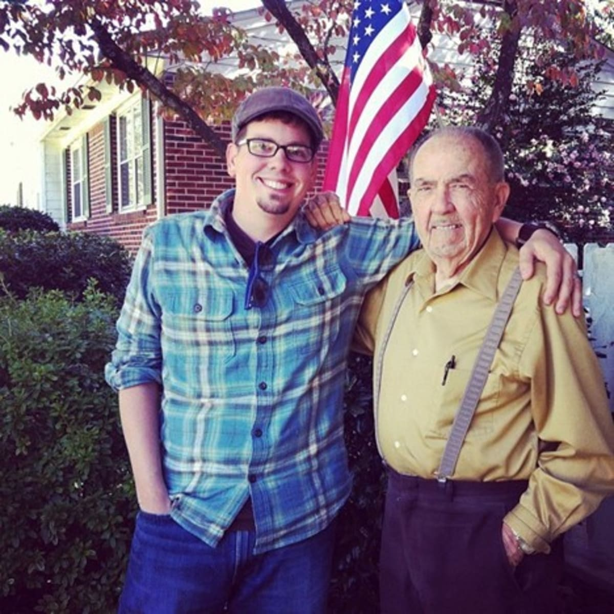 Eric Shoemaker (L) and his grandfather Frank R. Shoemaker Sr. (R).