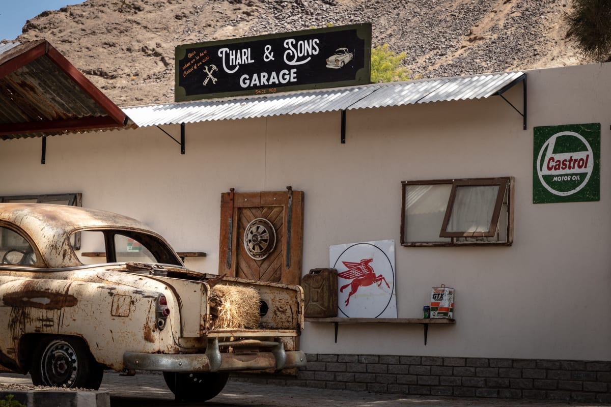 Custom garage signs. Photo by Grant Durr
