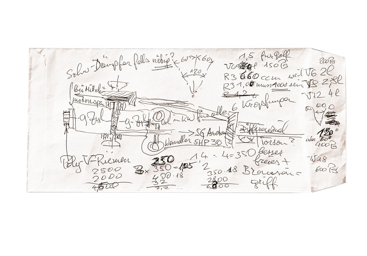 Ferdinand Piëch's W engine sketch