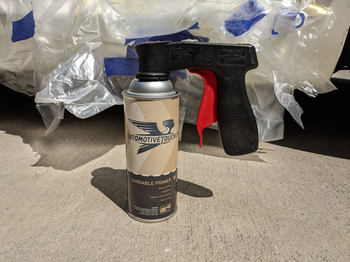 The aerosol spray can trigger made coating much more even.