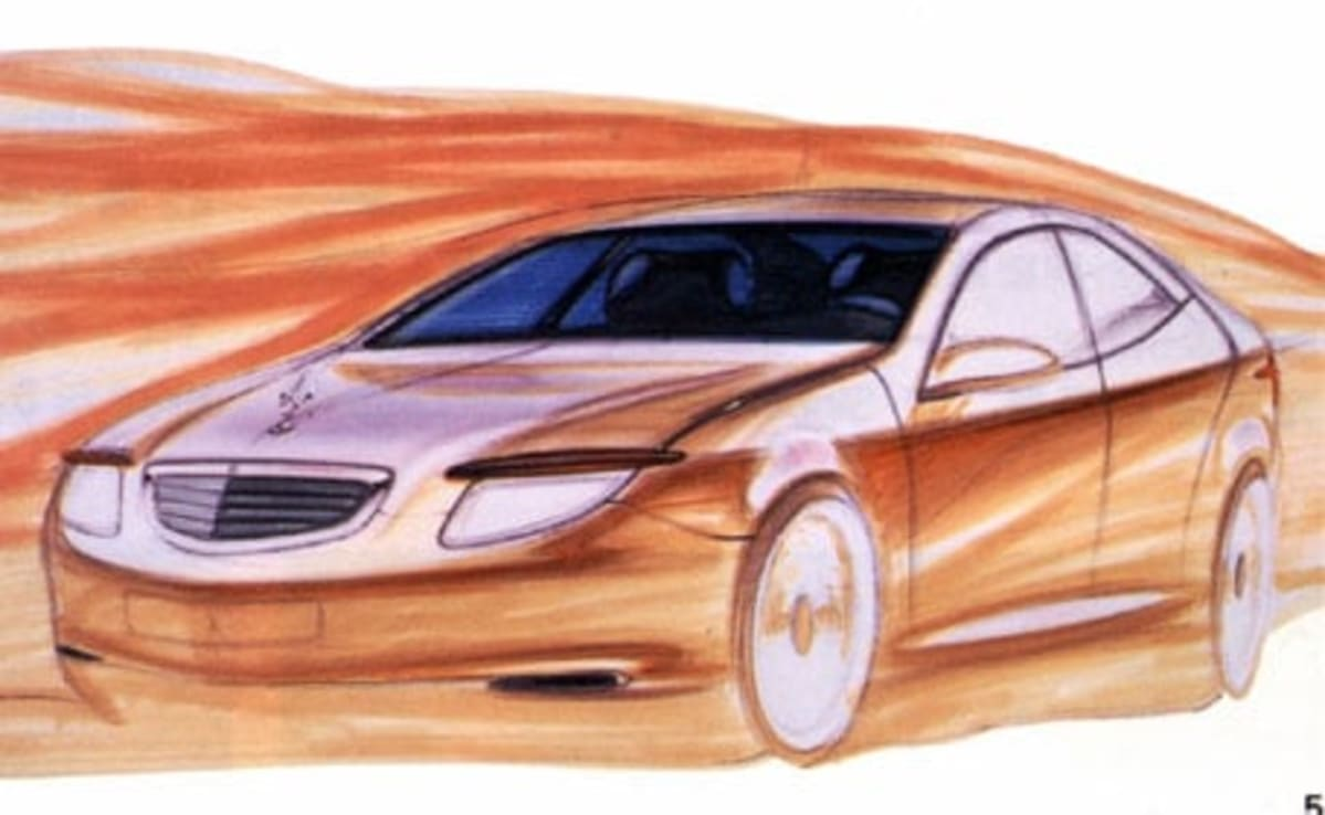rough sketch of mb s-class